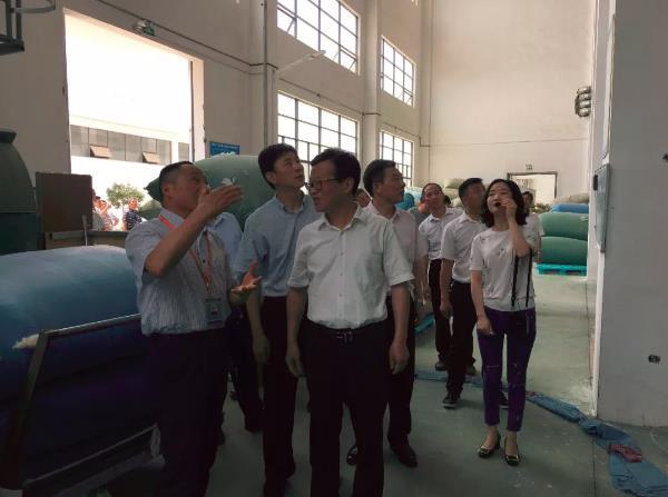 太湖县党政代表团来鸿润公司考察工作